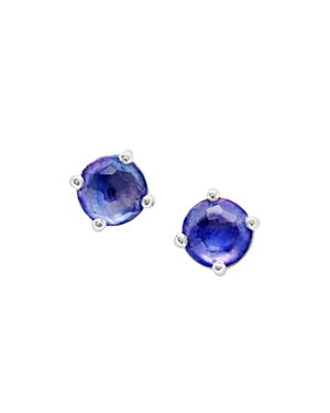 Ippolita Sterling Silver Rock Candy Mother-of-Pearl, Lapis & Clear Quartz Crystal Triplet Stud Earrings-Jewelry & Accessories