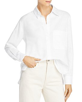 FRENCH CONNECTION - Relaxed Oxford Cotton Button-Up Shirt