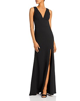 AQUA - Side-Slit Column Gown - 100% Exclusive