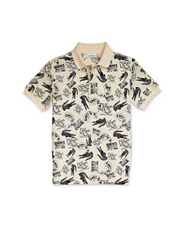 Lacoste - Boys' Cotton Logo-Print Polo - Little Kid, Big Kid