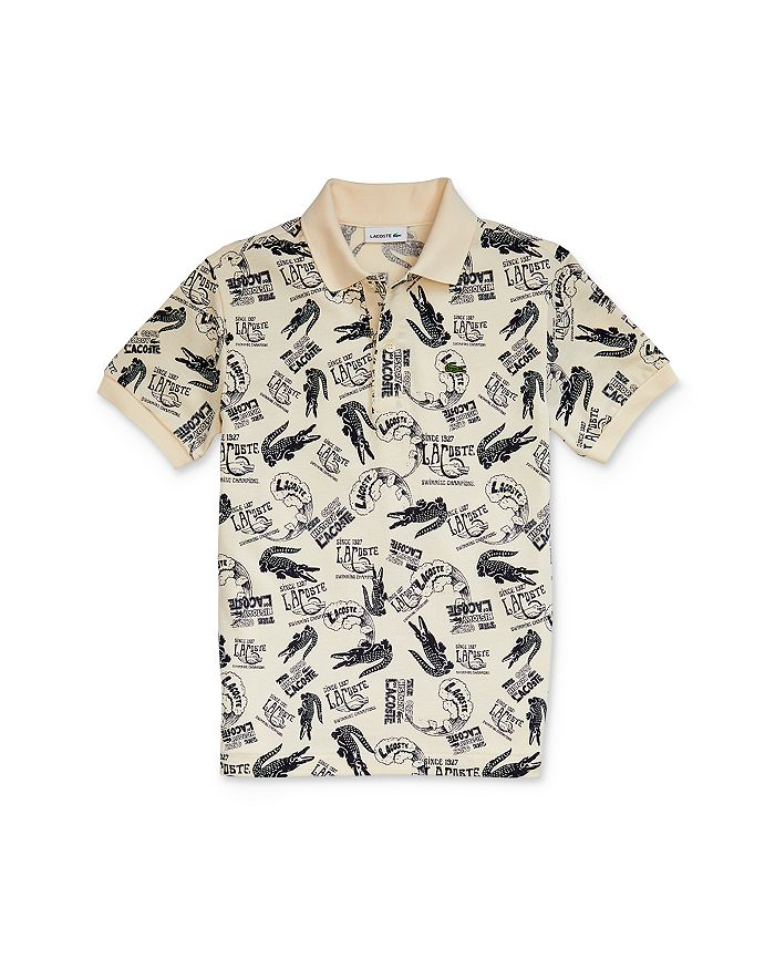 Lacoste - Boys' Cotton Logo-Print Polo - Little Kid, Big Kid