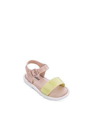 Mini Melissa Girls\\\' Color-Blocked Sandals - Walker, Toddler