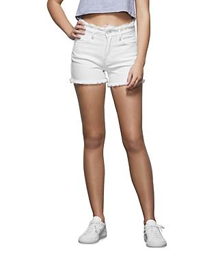 Good American The Cut Off Frayed-Edge Shorts-Women