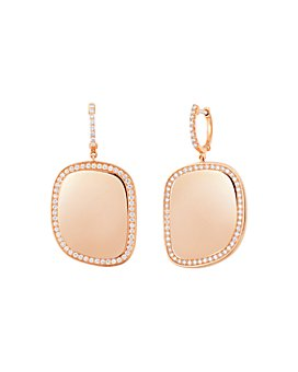 Roberto Coin - 18K Rose Gold Diamond Halo Drop Earrings