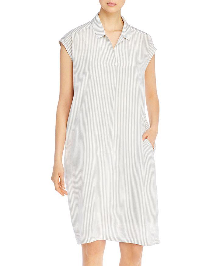 Eileen Fisher - Silk Striped Dress