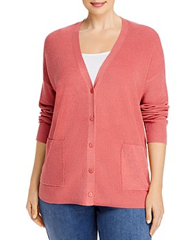 Eileen Fisher Plus - Organic Linen-Blend Boyfriend Cardigan