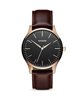 MVMT - 40 Series Leather Strap Watch, 40mm