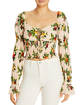 Significant Other - Ada Printed Tiered-Sleeve Top