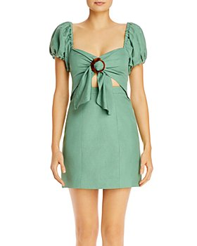 Significant Other - Solace Tie-Front Low-Back Dress