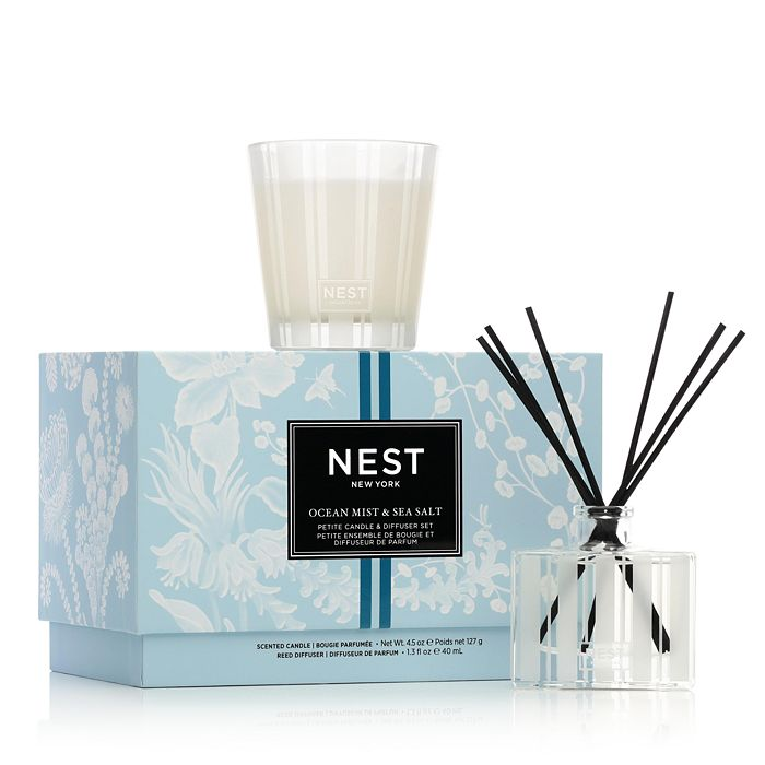 NEST Fragrances - Ocean Mist & Sea Salt Petite Candle & Diffuser Set