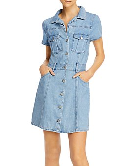 Boyish - The Sydney Cotton Denim Mini Dress