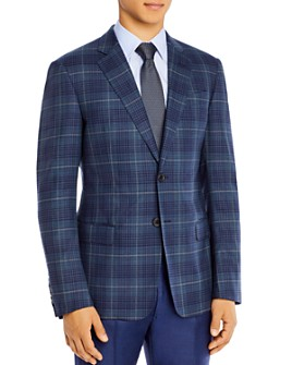 Armani - Wool Plaid Classic Fit Tailored Jacket