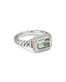 David Yurman - Sterling Silver Novella Ring with Gemstone and Pavé Diamonds