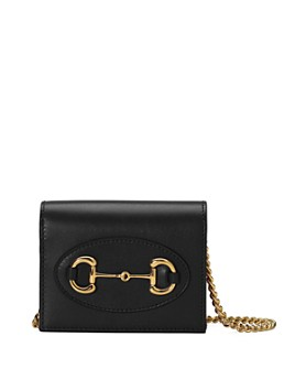 Gucci - 1955 Horsebit Leather Card Case Chain Wallet