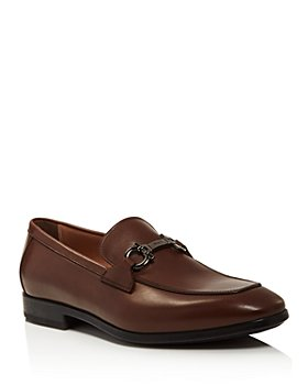 Salvatore Ferragamo - Men's Ree Double Gancini Bit Leather Loafers – 100% Exclusive