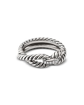 David Yurman - Cable Loop Ring with Diamonds