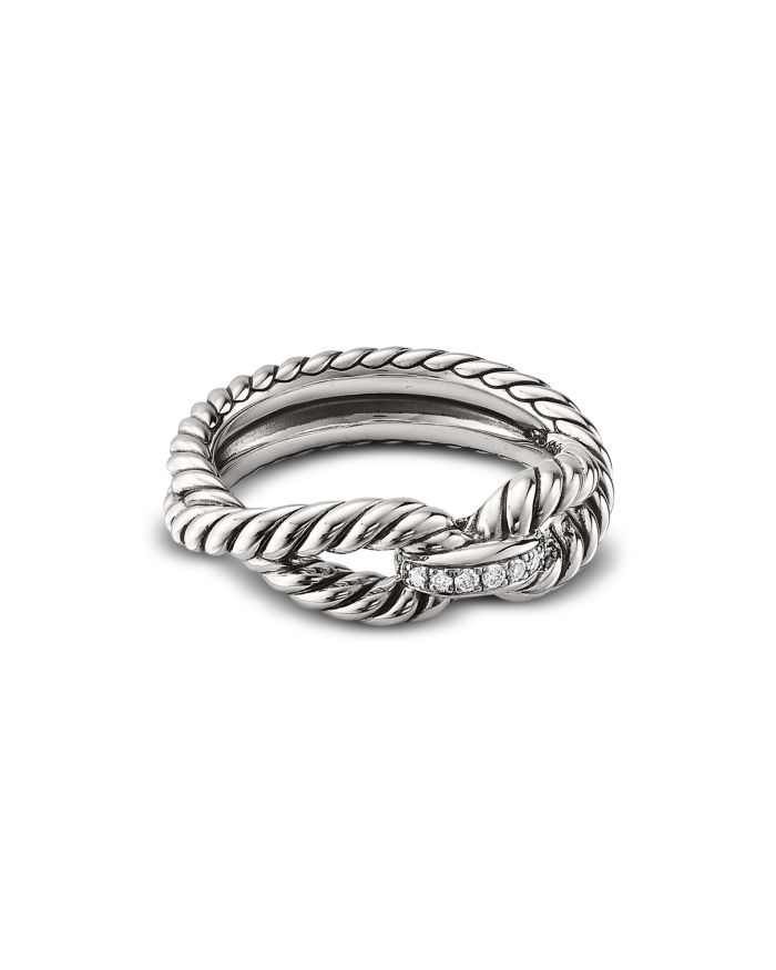 David Yurman Cable Loop Ring with Diamonds    Bloomingdale's