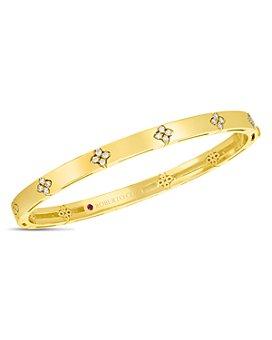 Roberto Coin - 18K Yellow Gold Verona Diamond Bangle Bracelet