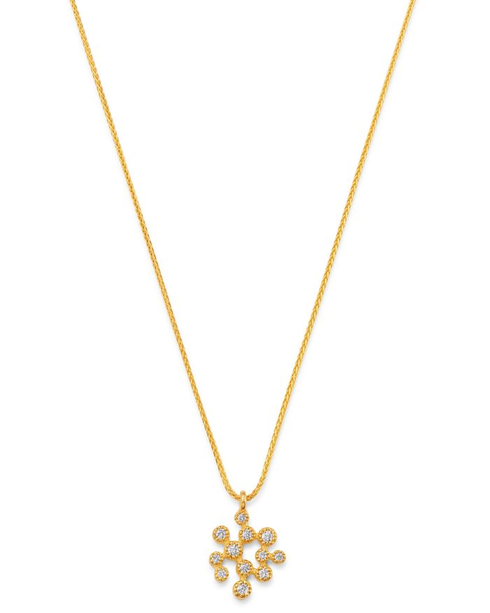 """Bloomingdale's Diamond Small Scatter Cluster Pendant Necklace in 14K Yellow Gold, 16-17.25"""", 0.15 ct. t.w. - 100% Exclusive  
