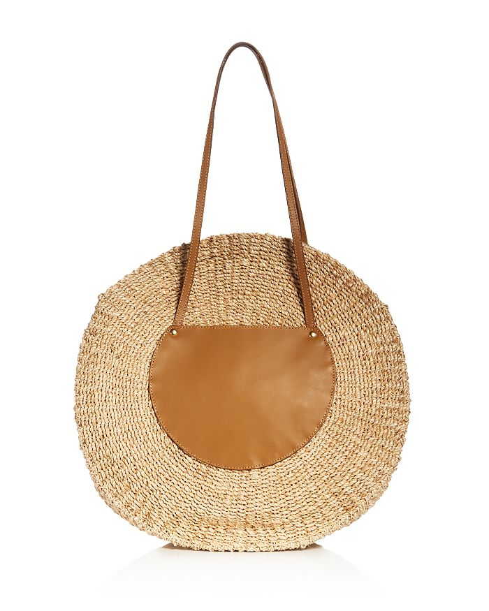 KAYU - Belen Large Leather & Straw Tote