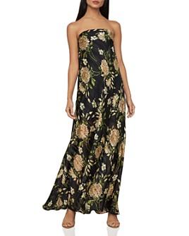 BCBGMAXAZRIA - Garden Floral Strapless Maxi Dress
