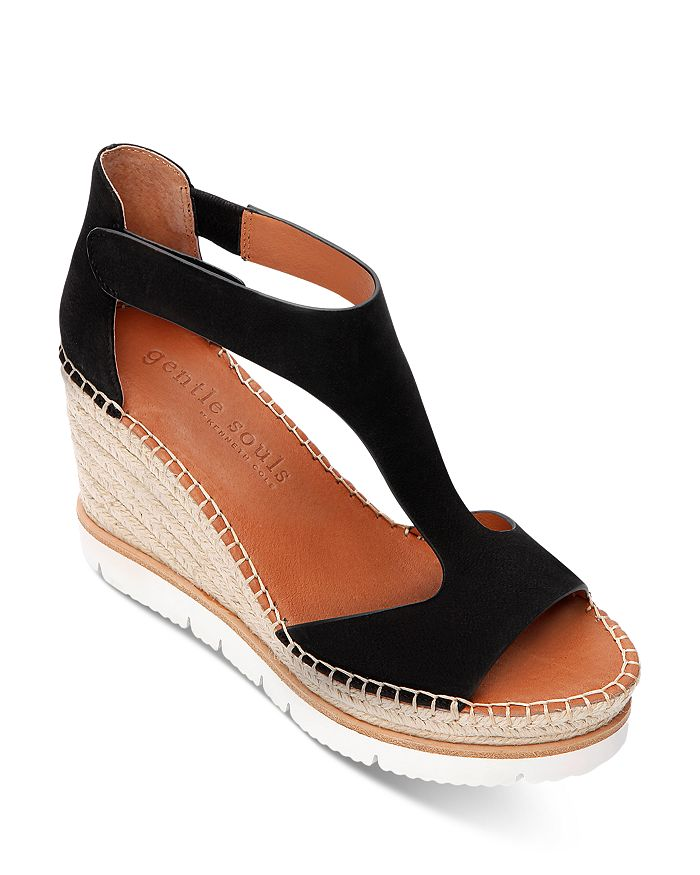 Gentle Souls by Kenneth Cole - Women's Elyssa T-Strap Espadrille Wedge Sandals