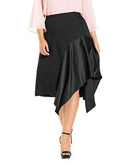 Estelle Plus - Mariah Fit-and-Flare Midi Skirt