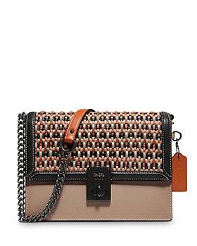 COACH - Hutton Woven Leather Shoulder Bag