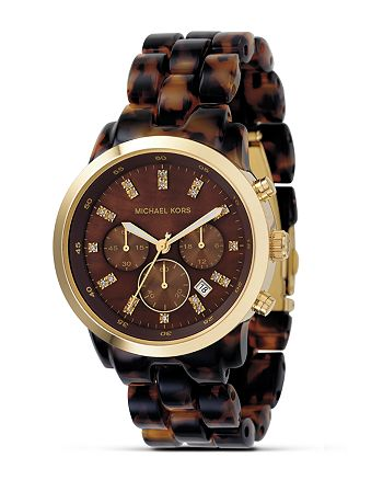 Michael Kors - Tortoise Chronograph Bracelet Watch 40mm