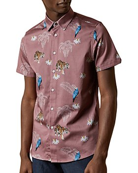 Ted Baker - Slim-Fit Animal Print Shirt
