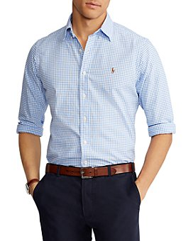 Polo Ralph Lauren - Cotton Gingham Plaid Classic Fit Oxford Shirt