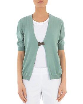 Peserico - Puff-Sleeve Cotton Cardigan Sweater