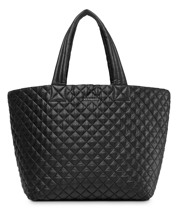 Mz Wallace Large Metro Tote In Black/silver