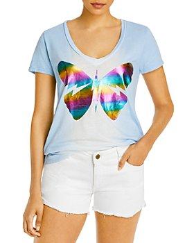AQUA - Lauren Moshi x AQUA Butterfly Foil Print Tee - 100% Exclusive