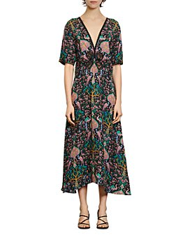 Sandro - Ivena Floral-Print Midi Dress