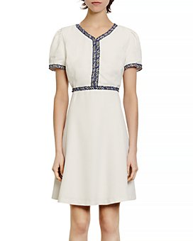 Sandro - Reyan Tweed-Trim Dress