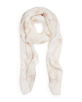 Max Mara - Dimma Abstract Floral Print Silk Scarf