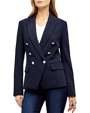 L\\\'Agence Kenzie Double-Breasted Blazer