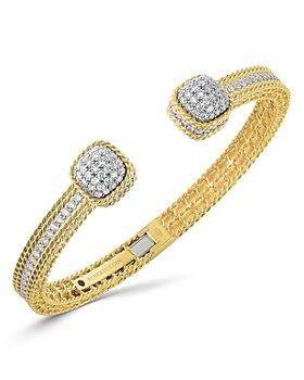 Roberto Coin - 18K Yellow Gold Roman Barocco Diamond Pavé Dome Bangle Bracelet
