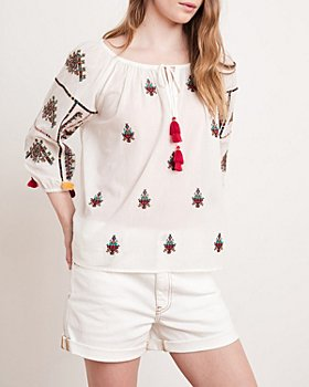 Velvet by Graham & Spencer - Nyssa Cotton Embroidered Top