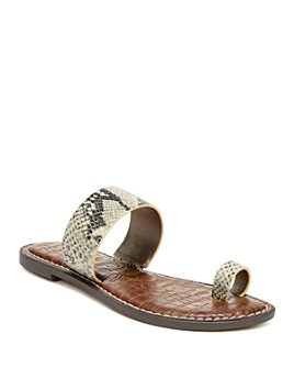 Sam Edelman - Women's Gorgene Toe-Ring Slide Sandals