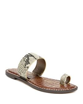 Sam Edelman - Women's Gorgene Toe-Ring Slide Sandals