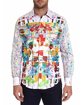 Robert Graham - Tropic Victory Limited Edition Cotton Geo-Print Classic Fit Button-Up Shirt