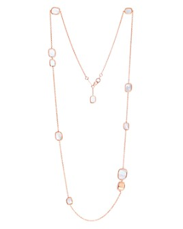 Roberto Coin - 18K Rose Gold Mother-of-Pearl Station Necklace, 31""