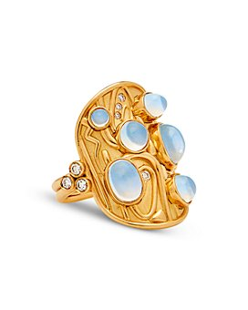 Temple St. Clair - 18K Yellow Gold Isola Blue Moonstone & Diamond Ring