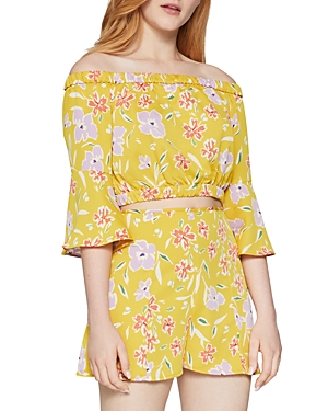 Bcbgeneration Floral Print Off-The-Shoulder Top-Women
