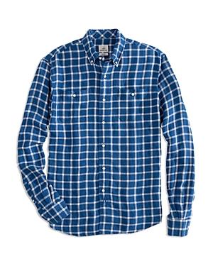 Johnnie-o Camden Linen-Blend Check Classic Fit Button-Down Shirt-Men