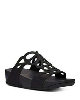 FitFlop - Women's Bumble Glitter Slide Sandals