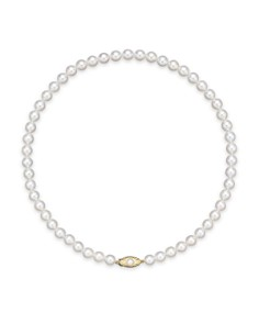 "Bloomingdale's - Cultured Akoya Pearl Strand Necklace in 14K Yellow Gold, 16""-18"" - 100% Exclusive"