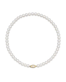 """Bloomingdale's - Cultured Akoya Pearl Strand Necklace in 14K Yellow Gold, 16""""-18"""" - 100% Exclusive"""